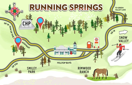 Running Springs Map with Pins