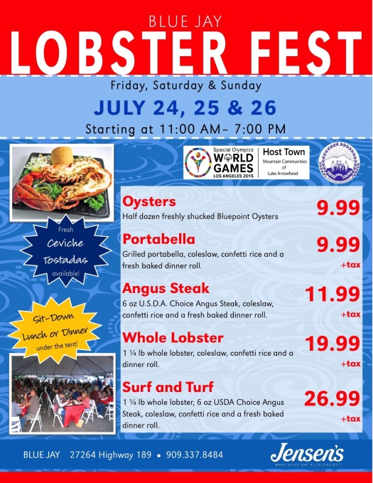 Full color Lobster event flyers BJ